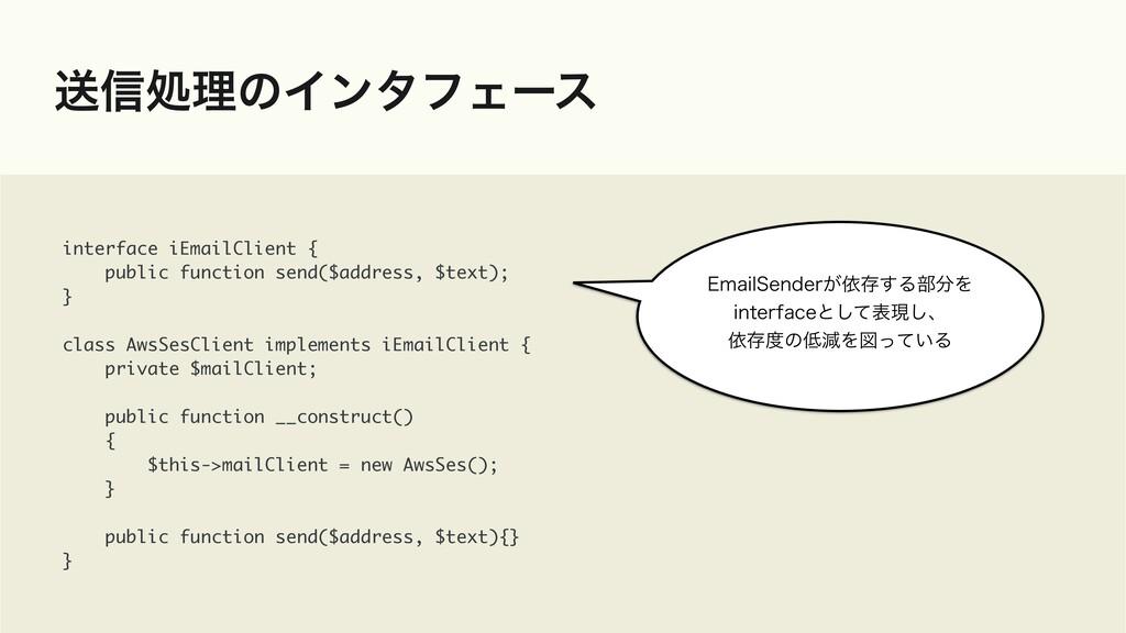 ૹ৴ॲཧͷΠϯλϑΣʔε interface iEmailClient {  public f...