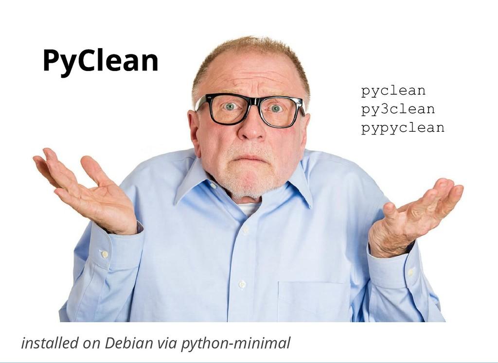 PyClean PyClean installed on Debian via python-...