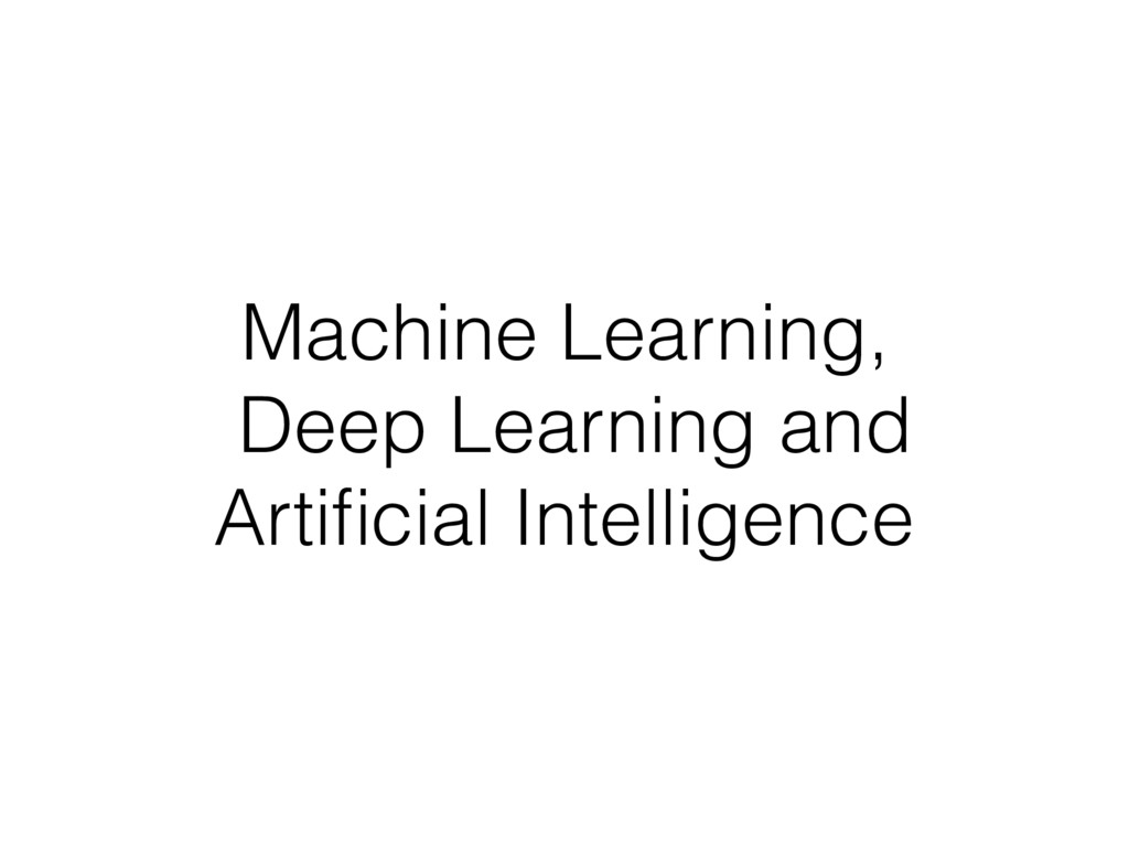 Machine Learning,