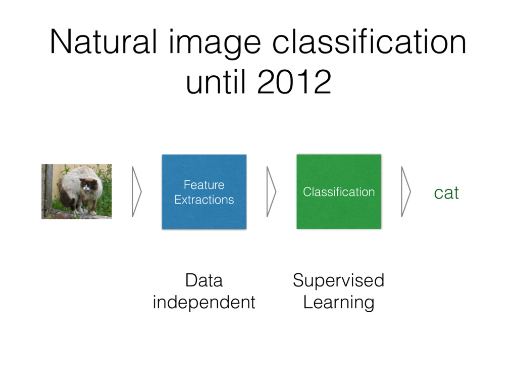 Natural image classification until 2012 Feature ...