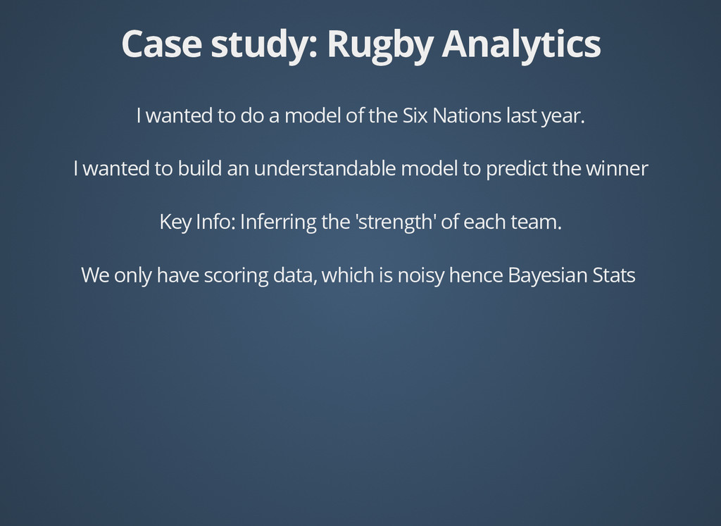 Case study: Rugby Analytics Case study: Rugby A...