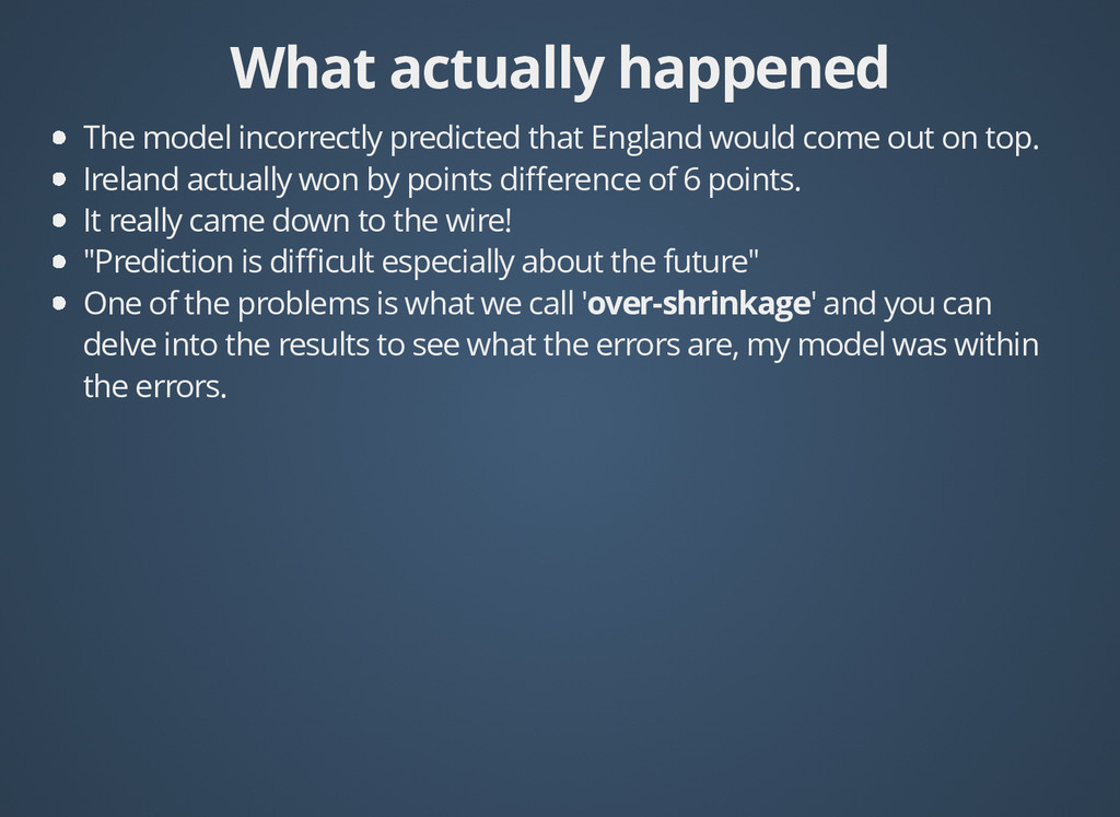 What actually happened What actually happened T...