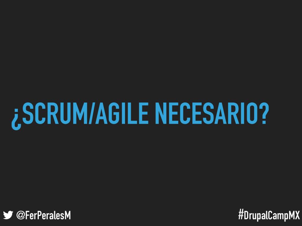 #DrupalCampMX @FerPeralesM ¿SCRUM/AGILE NECESAR...
