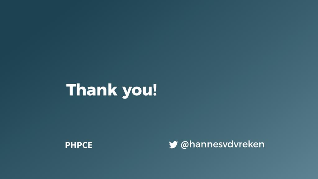 @hannesvdvreken Thank you! PHPCE