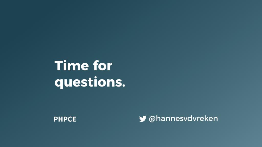 @hannesvdvreken Time for questions. PHPCE