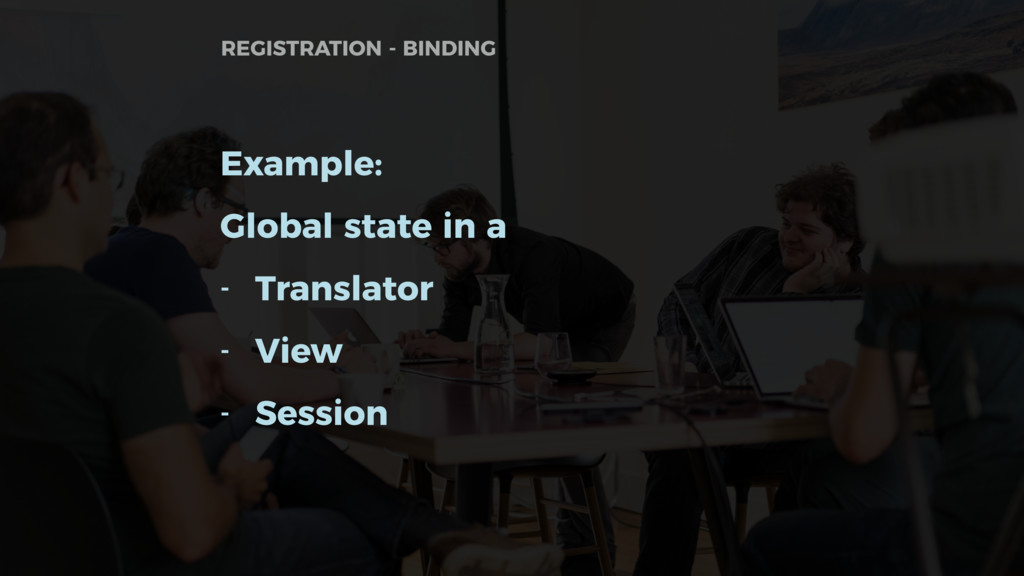 Example: Global state in a - Translator - View ...