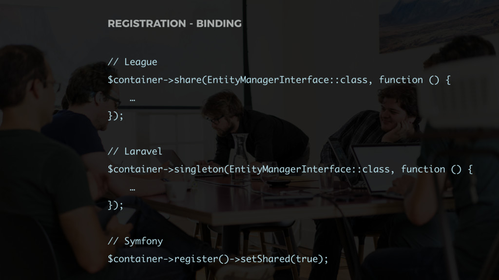 // League $container->share(EntityManagerInterf...