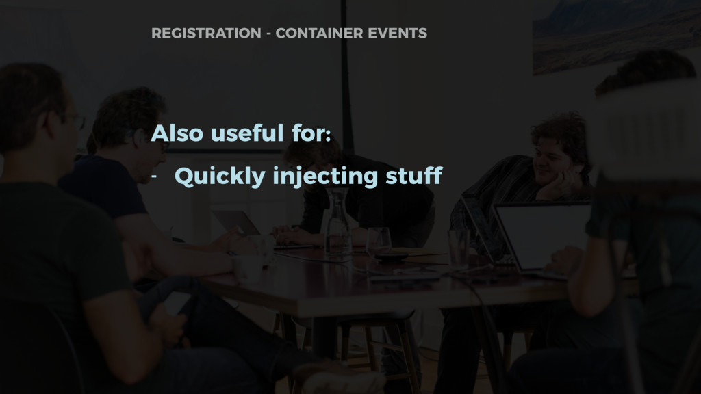 Also useful for: - Quickly injecting stuff REGI...
