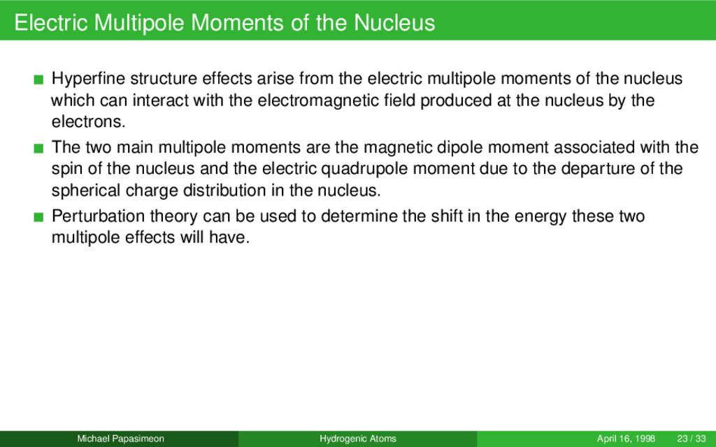 Electric Multipole Moments of the Nucleus Hyper...