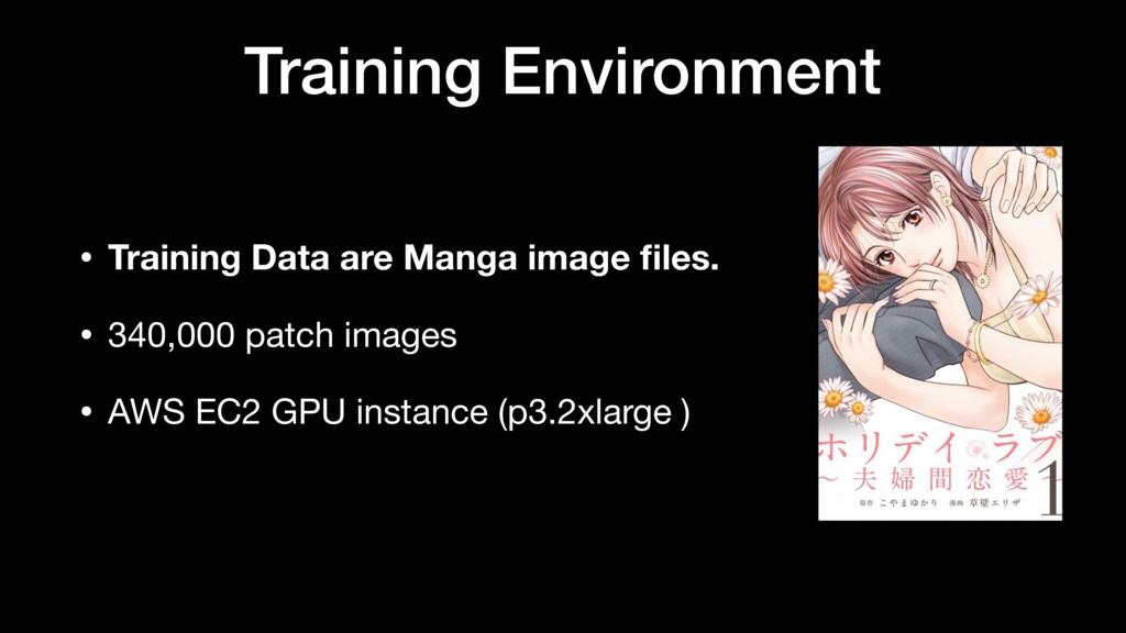 Training Environment • Training Data are Manga ...