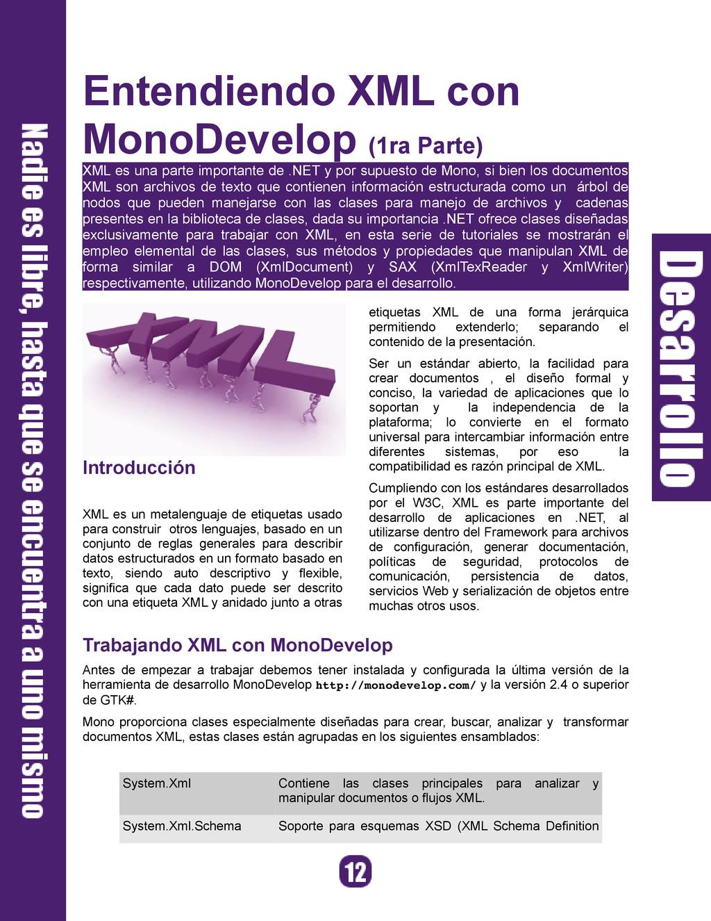 Entendiendo XML con MonoDevelop (1ra Parte) XML...