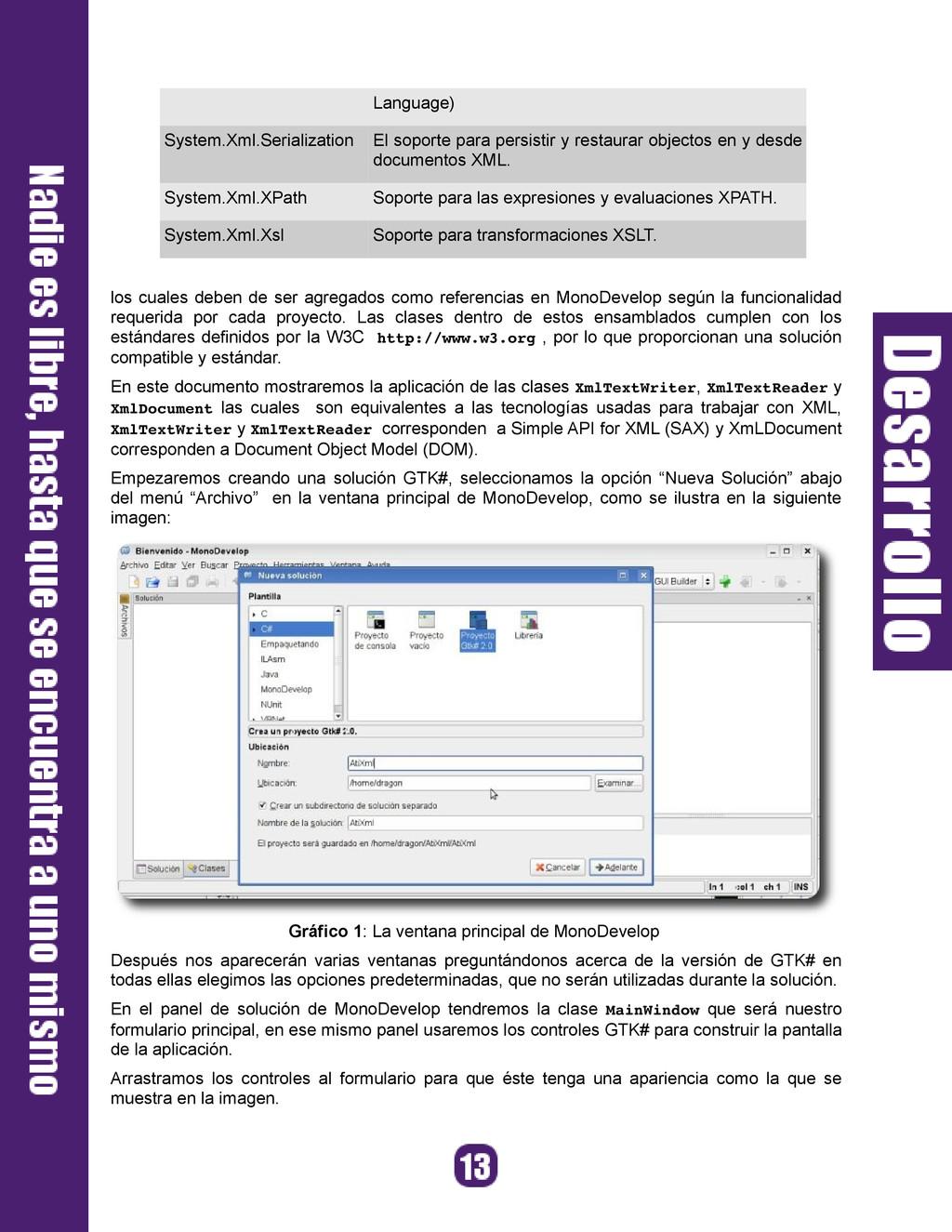 Language) System.Xml.Serialization El soporte p...