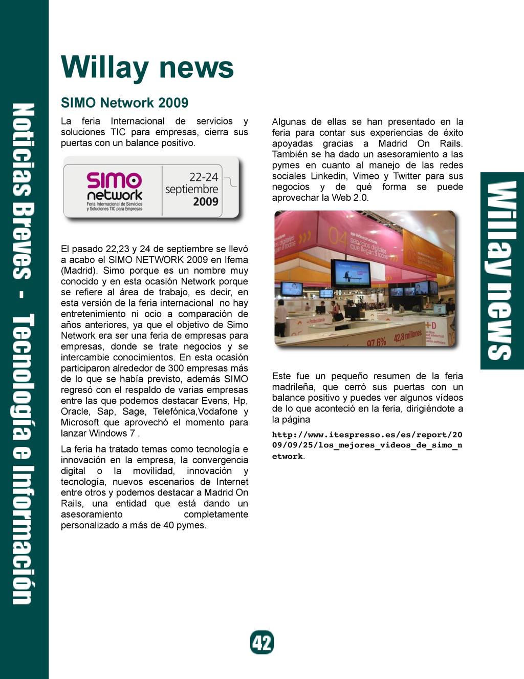 Willay news SIMO Network 2009 La feria Internac...