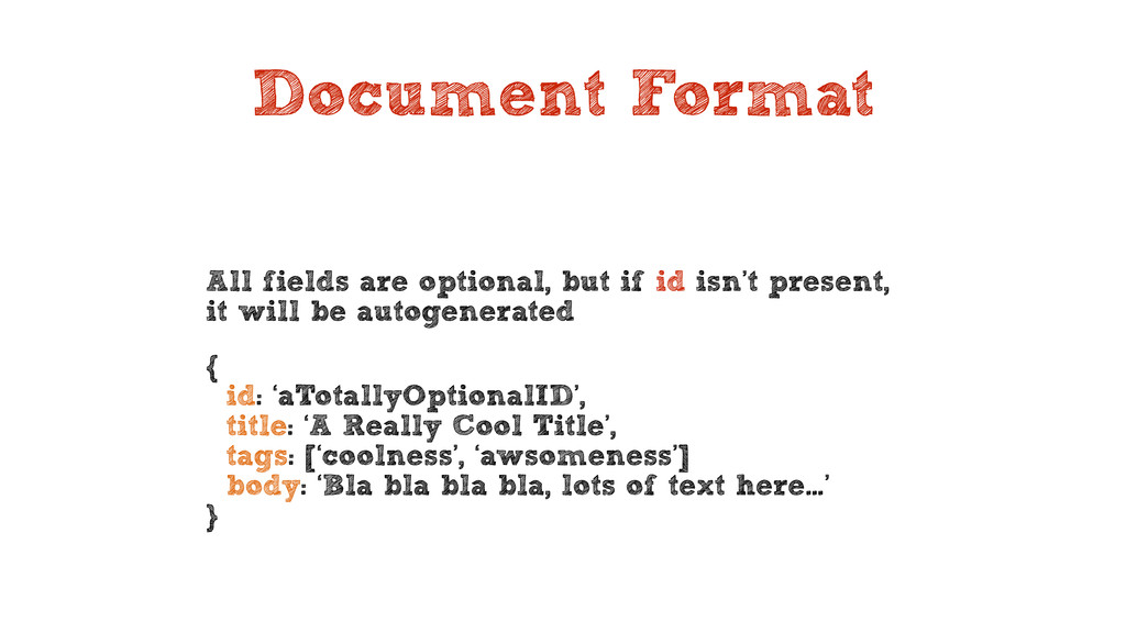 Document Format All fields are optional, but if...