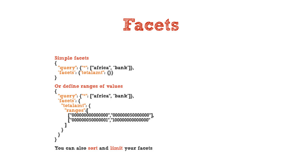 Facets Simple facets