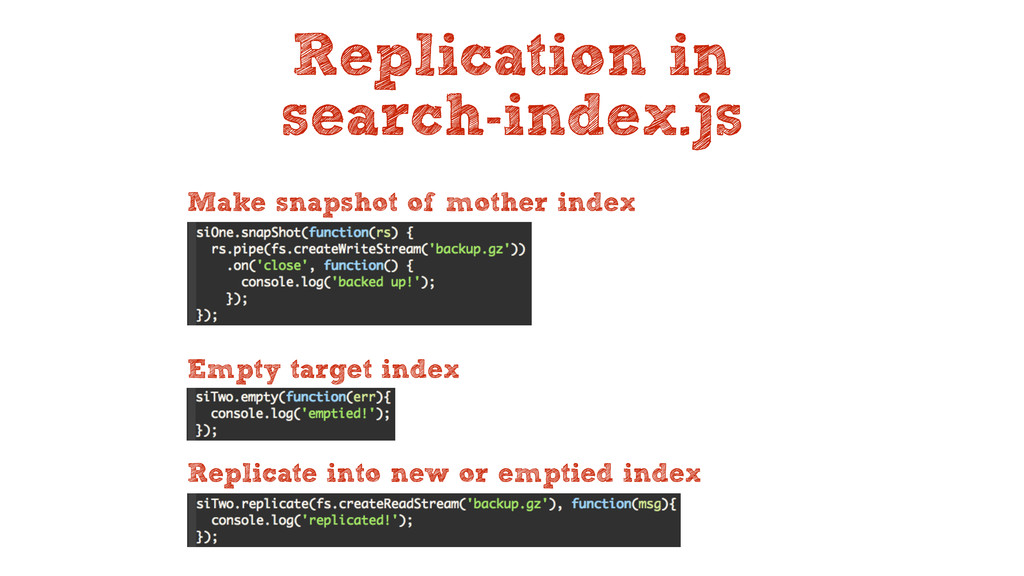 Replication in