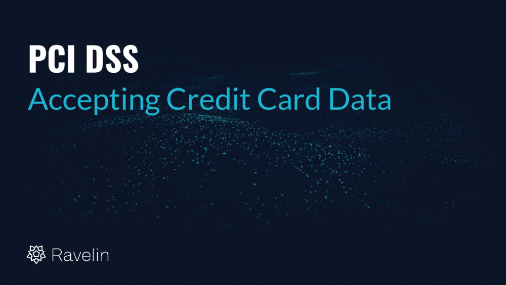 PCI DSS Accepting Credit Card Data