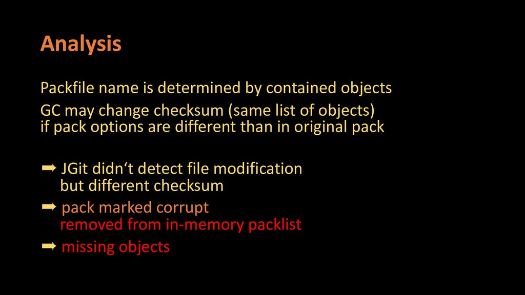 Analysis Packfile name is determined by contain...