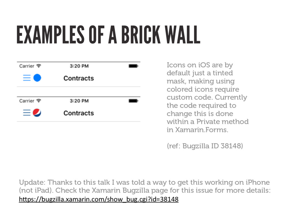 EXAMPLES OF A BRICK WALL Icons on iOS are by de...