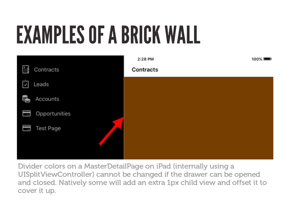 EXAMPLES OF A BRICK WALL Divider colors on a Ma...