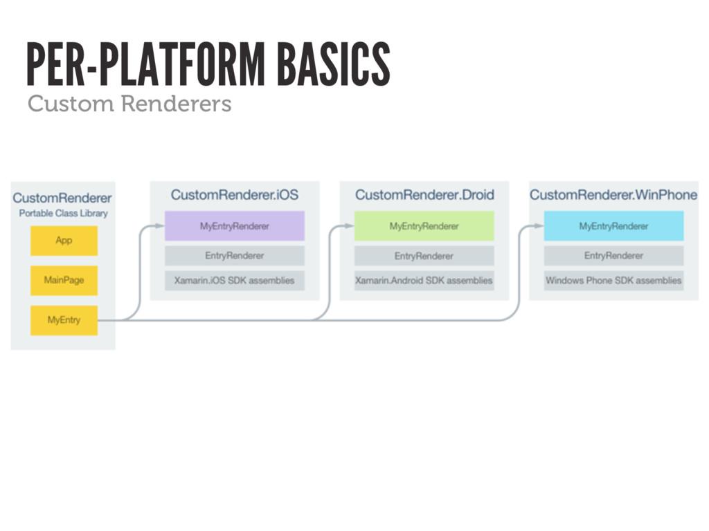 PER-PLATFORM BASICS Custom Renderers