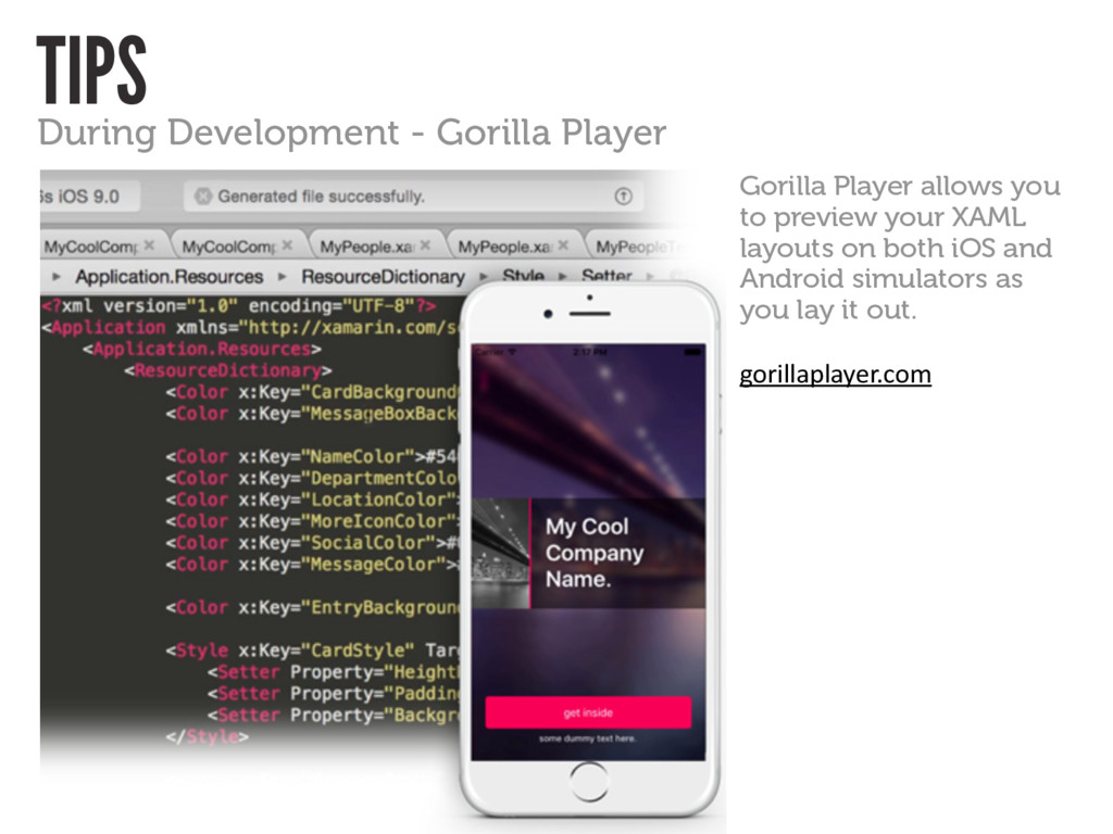 TIPS During Development - Gorilla Player Gorill...