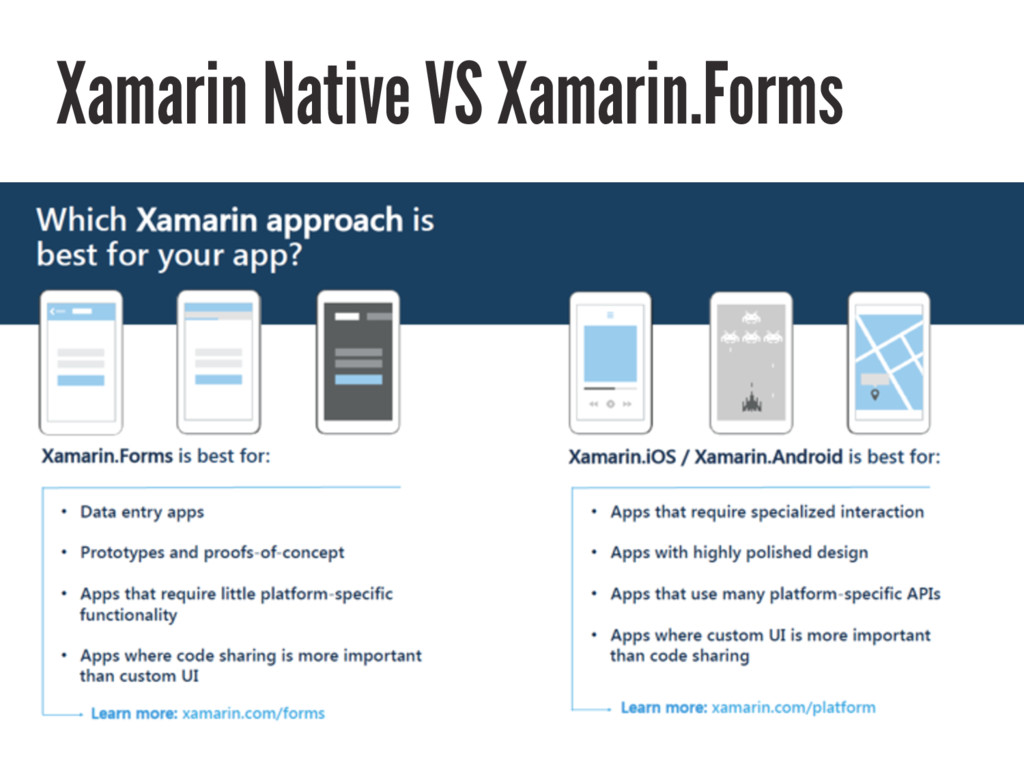 Xamarin Native VS Xamarin.Forms