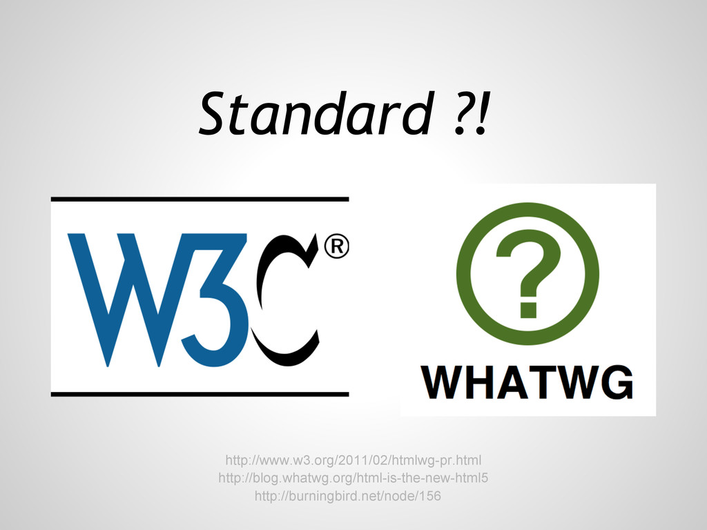 http://blog.whatwg.org/html-is-the-new-html5 St...