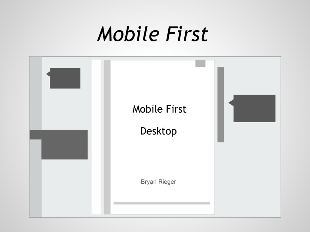 Mobile First Bryan Rieger Desktop Mobile First