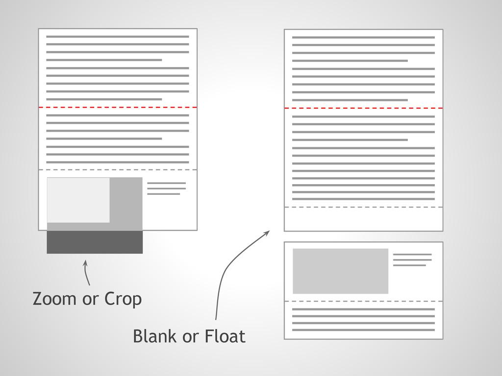 Blank or Float Zoom or Crop