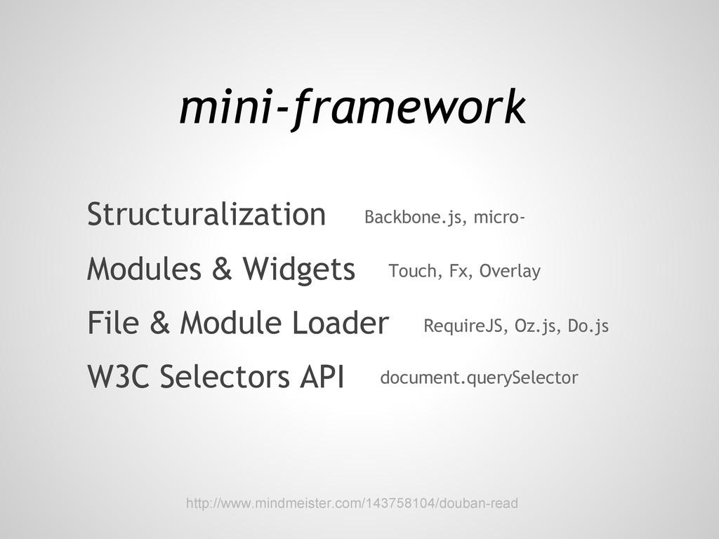 W3C Selectors API Structuralization Modules & W...