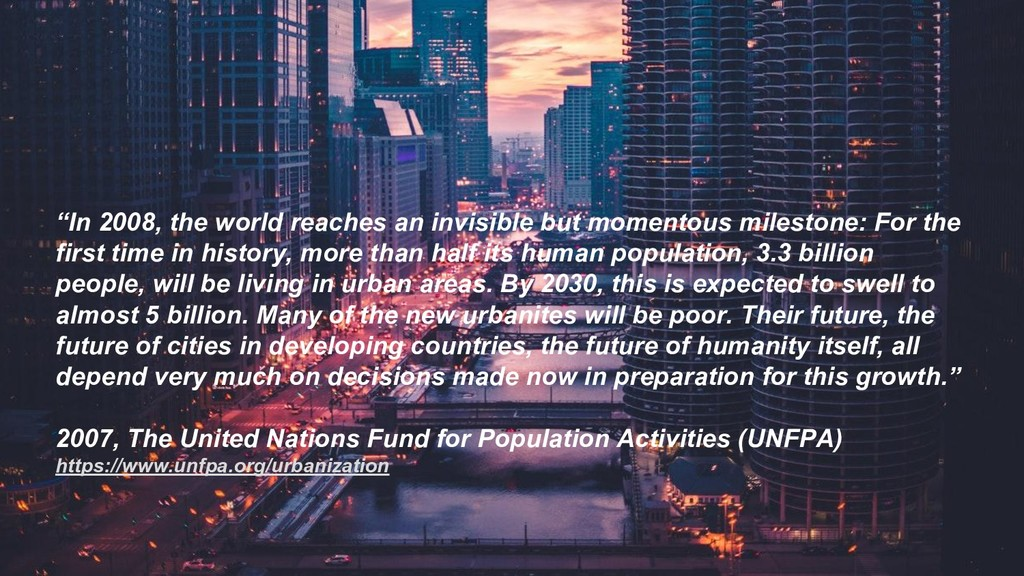 """""""In 2008, the world reaches an invisible but mo..."""