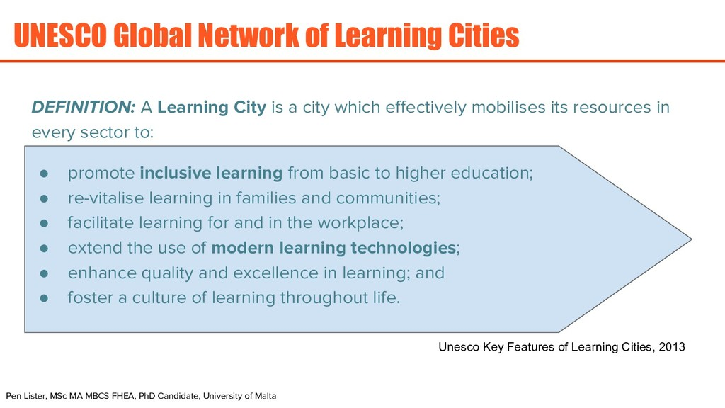 UNESCO Global Network of Learning Cities DEFINI...