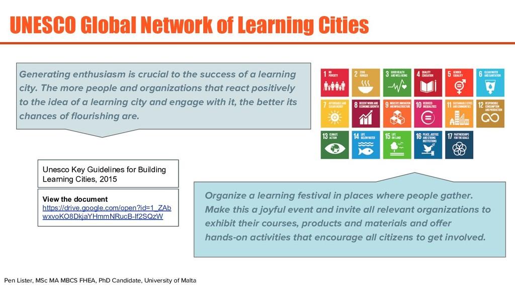 UNESCO Global Network of Learning Cities Pen Li...