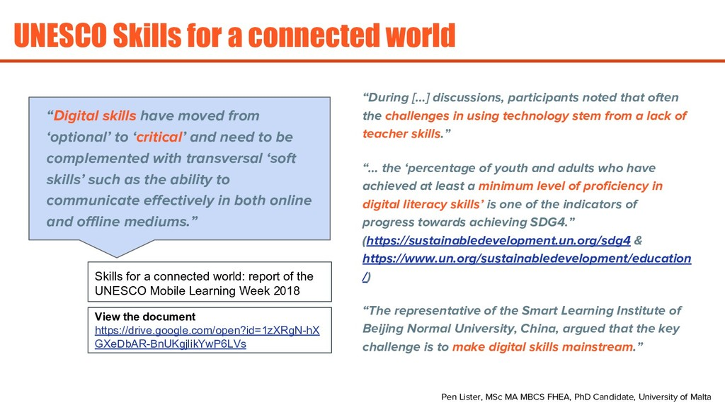UNESCO Skills for a connected world Pen Lister,...
