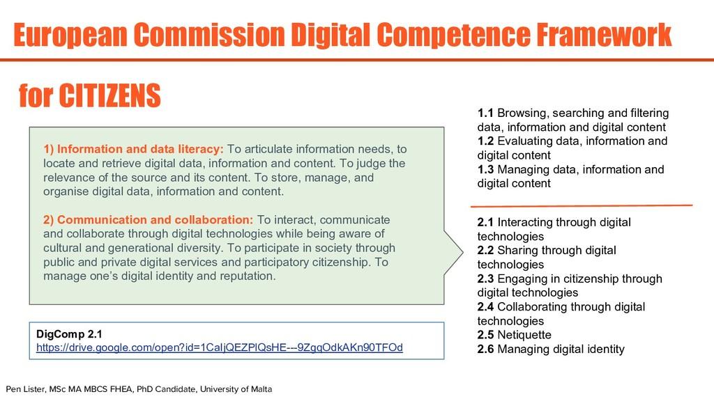European Commission Digital Competence Framewor...