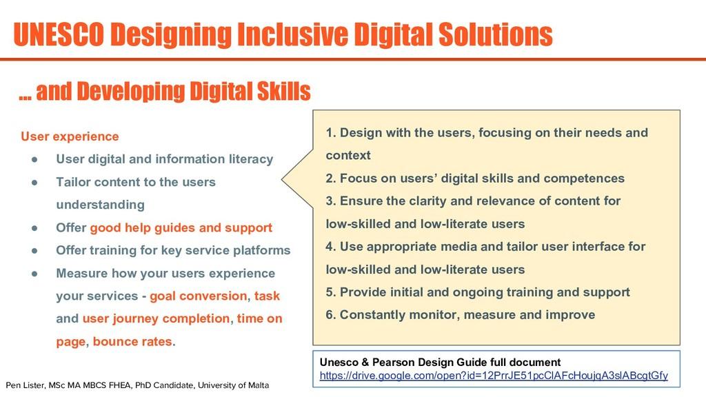 UNESCO Designing Inclusive Digital Solutions Pe...