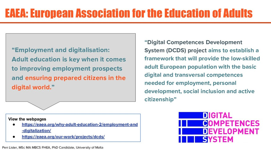 EAEA: European Association for the Education of...