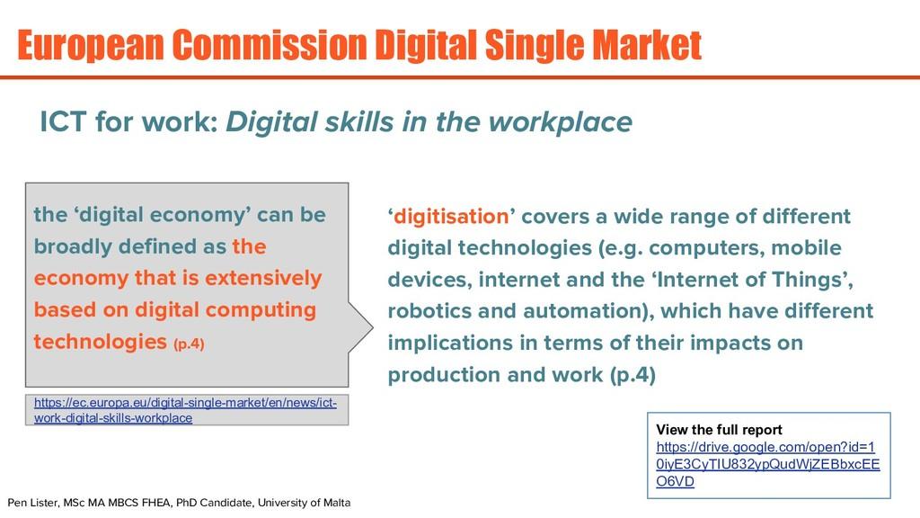 European Commission Digital Single Market Pen L...