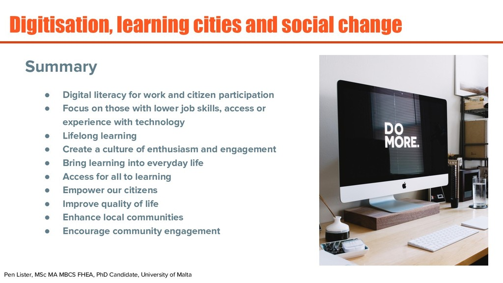 ● Digital literacy for work and citizen partici...