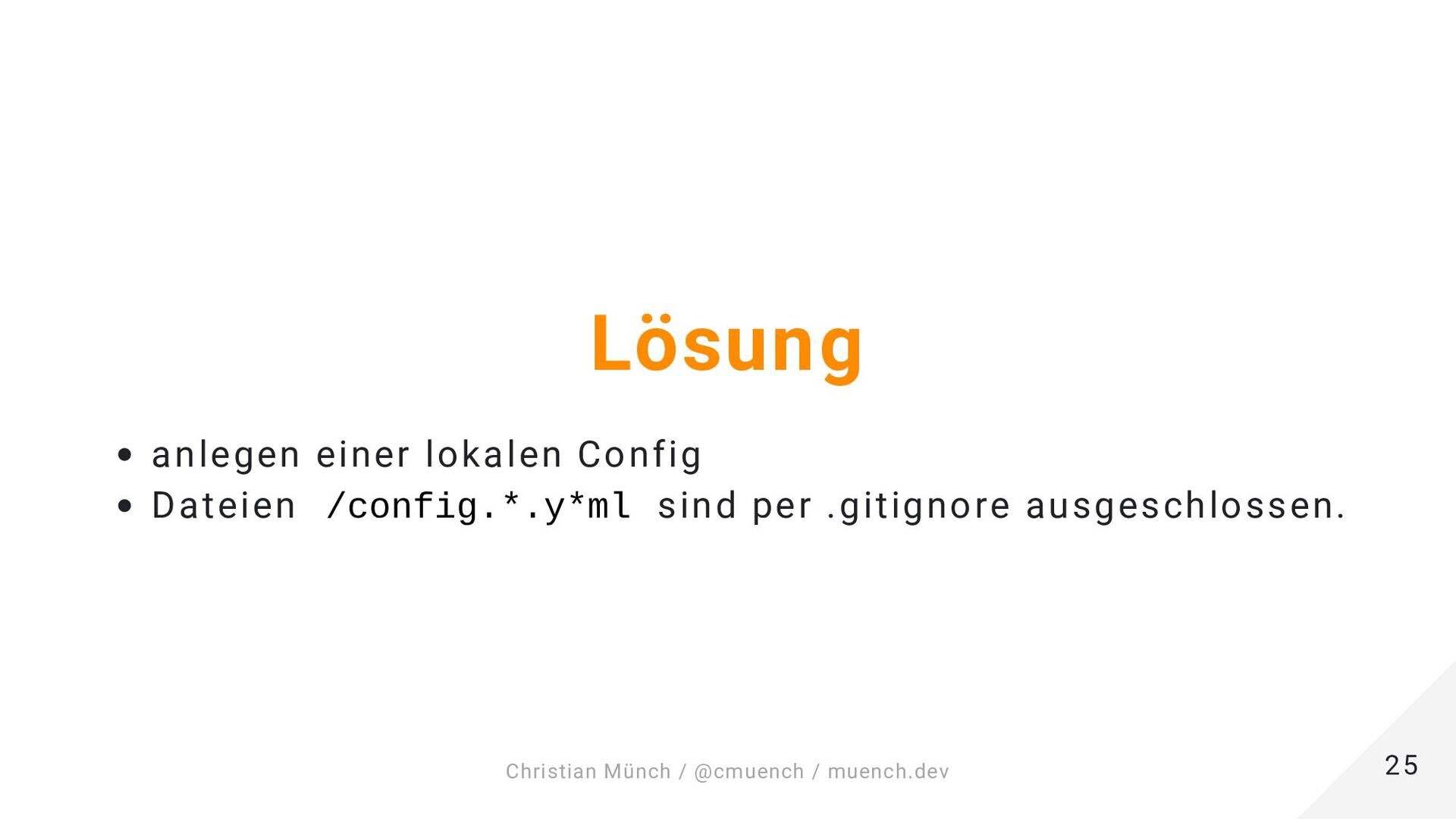 Container Commands 25 25 Christian Münch / @cmu...