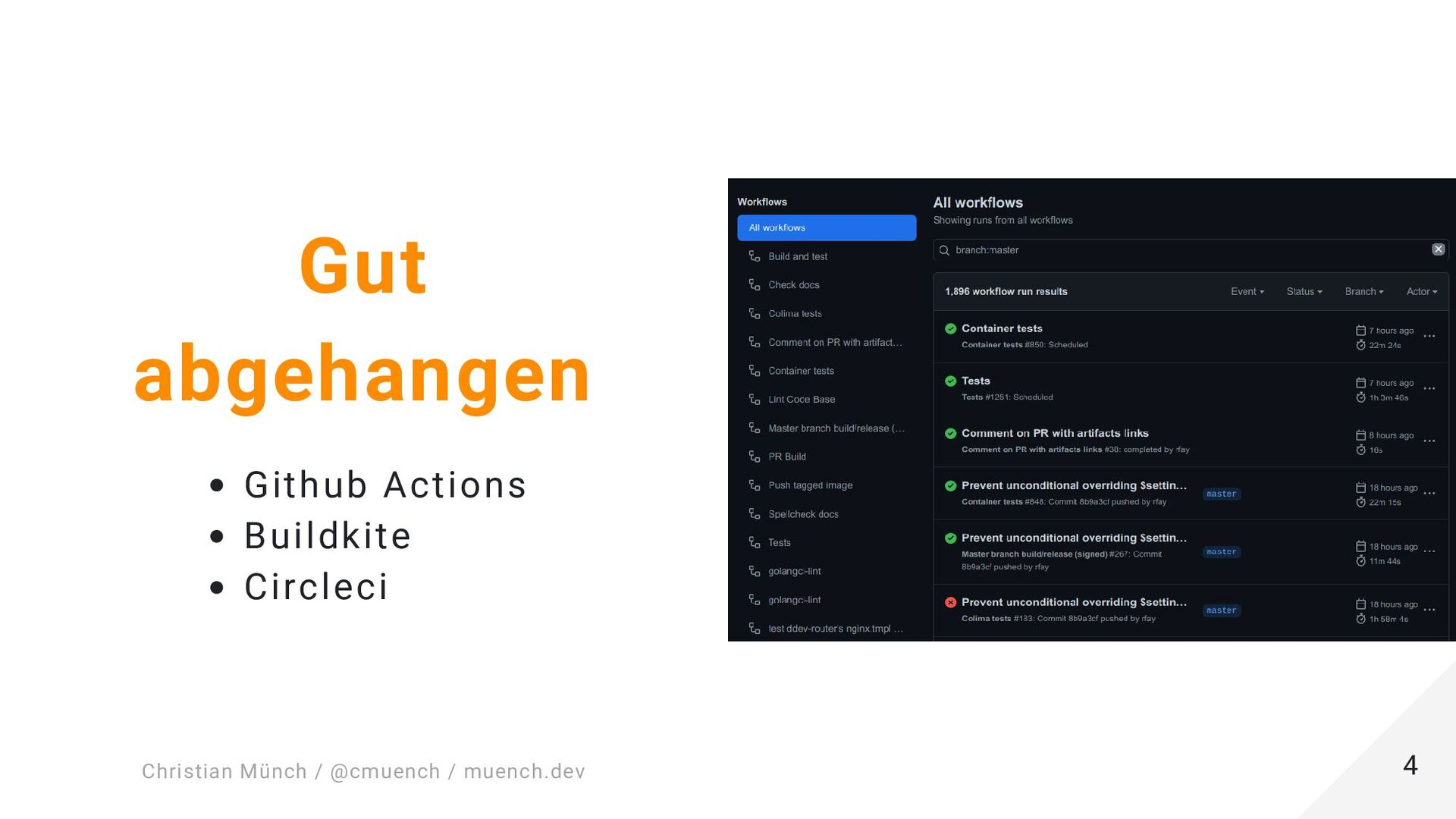 "Minimale composer.json { ""name"": ""muench-dev/ex..."