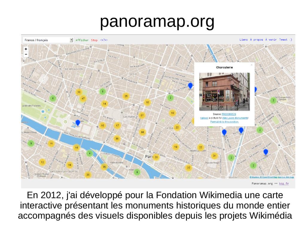 panoramap.org En 2012, j'ai développé pour la F...