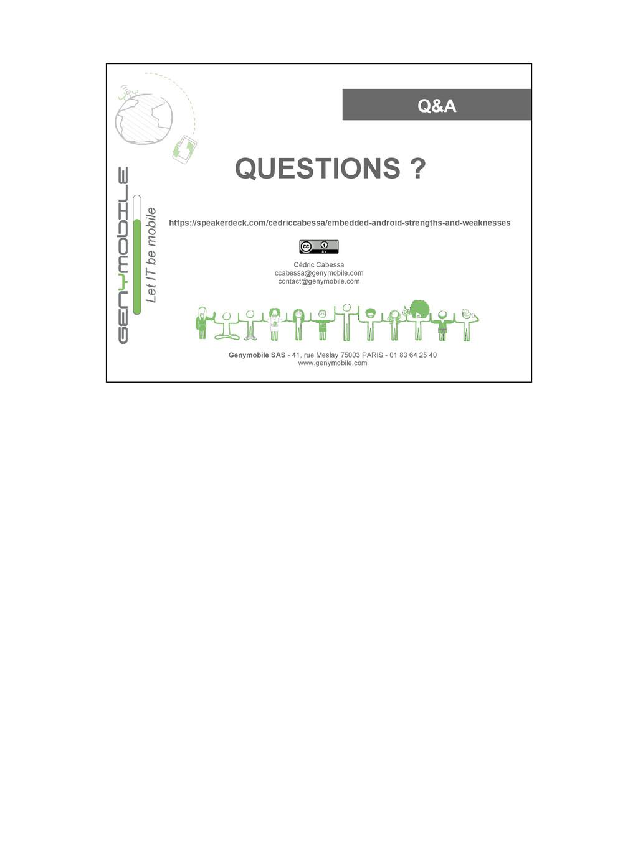 Q&A Genymobile SAS - 41, rue Meslay 75003 PARIS...