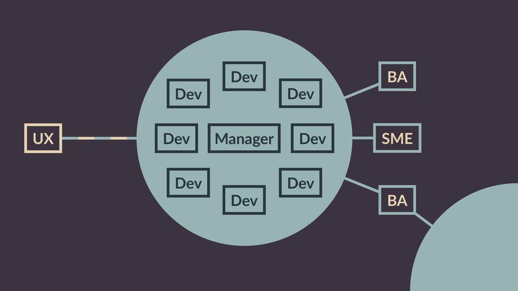 Dev Dev Dev Manager Dev Dev SME BA UX BA Dev De...