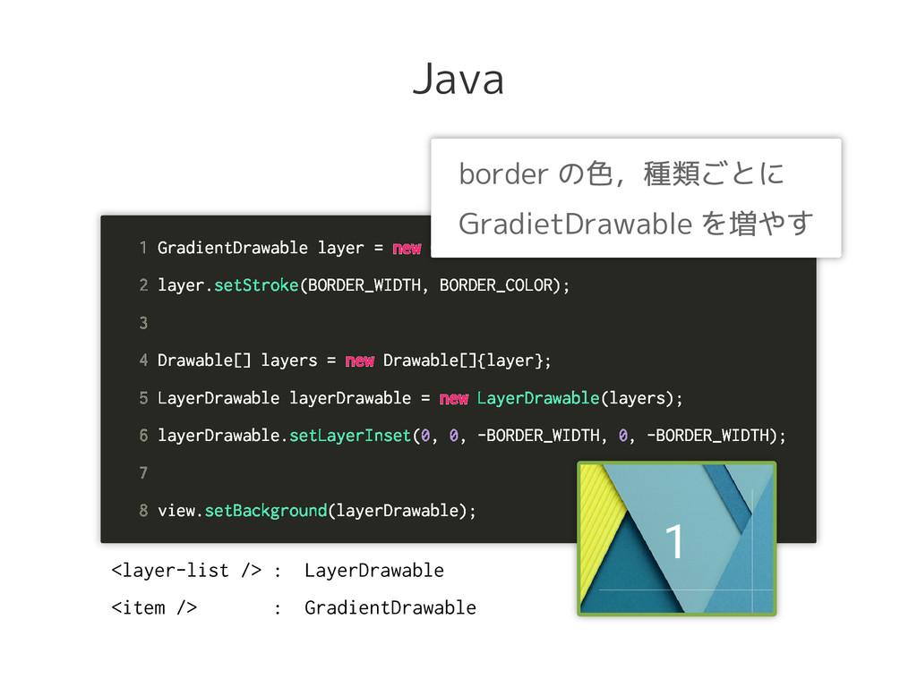 Java 1 GradientDrawable layer = new GradientDra...