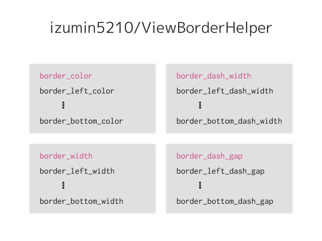 izumin5210/ViewBorderHelper border_color border...