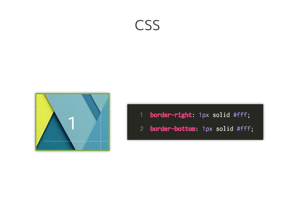 1 border-right: 1px solid #fff; 2 border-bottom...