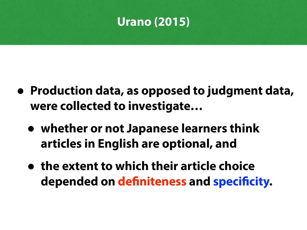Urano (2015) • Production data, as opposed to j...