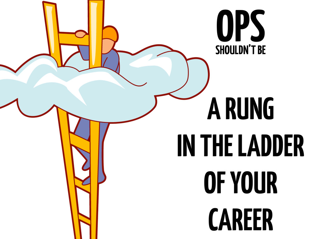 OPS SHOULDN'T BE A RUNG IN THE LADDER OF YOUR C...